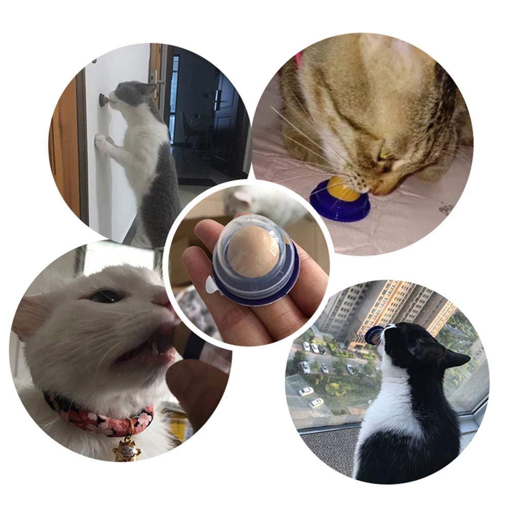 AUOKER Katzen-Leckerli-Ball Katzen-Leckerlis 1 Stück erhöht Das Trinkwasser 1 Stück Zucker-Ball Katzen-Snacks und Süßigkeiten solides Nährgel zur Verbesserung des Urins Zucker erhöht Das Trinkwasser