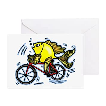 CafePress diseño de peces en bicicleta bicicleta Funny ...