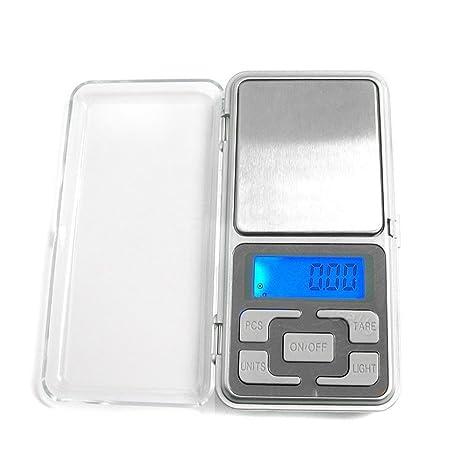 fenguh 200g/0.01g Mini Escala Balanza digital de bolsillo Gram Bascula Balanza Digital LCD