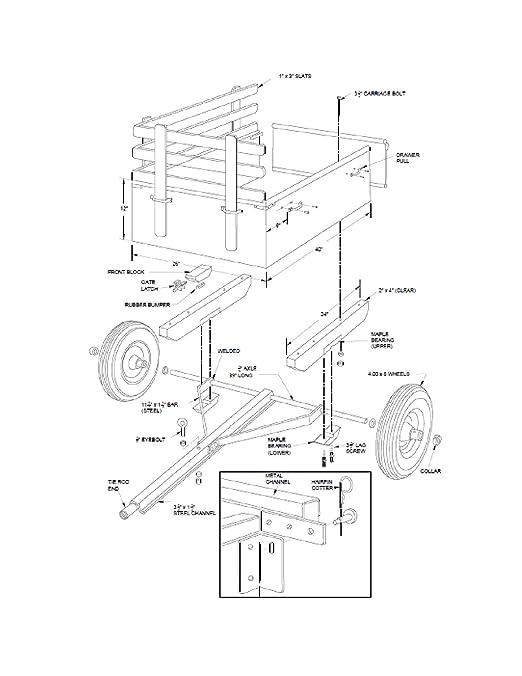 Amazon Com Trailer Plans Diy Utility Dump Cart Garden Yard Lawn