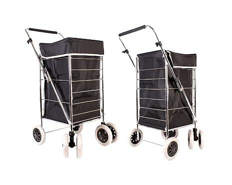 Alexander Graham exclusivo alta calidad 6 rueda carrito de la compra con ruedas con asa ajustable