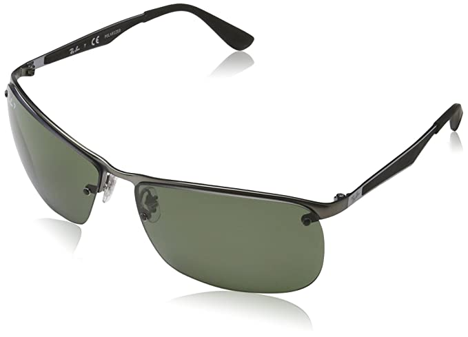 Ray-Ban 0Rb3550 Gafas de sol, Rectangulares, Polarizadas, 64, Matte Gunmetal: Amazon.es: Ropa y accesorios