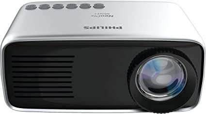 Philips NeoPix Start+ (NPX245) Mini and Transportable Projector, 1080p, 650 Led Lumens, 60 Inch Display, Built-in Battery, Built-in Media Player, ...