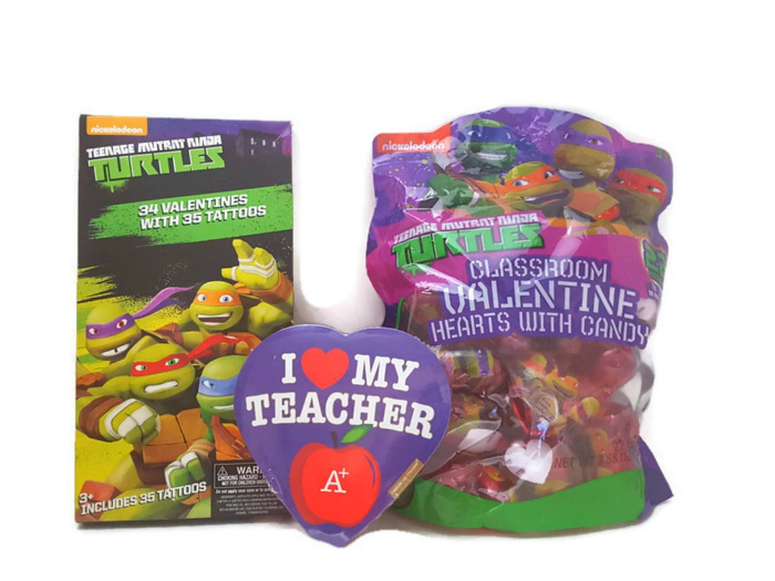 Valentines Day Cards Gift Set (Ninja Turtles 32 with ...