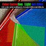 Selens 15.8x19.7in Pack of 3 Transparent Color Correction Lighting Gel Filter Plastic Sheet in 3 Colors for Photo Studio Strobe Flashlight (Red, Green,Blue)