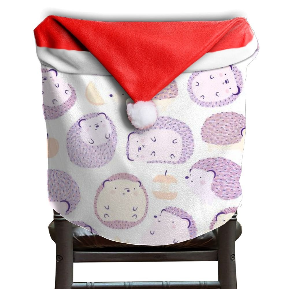 Hedgehog Animals Christmas Chair Covers Great Smooth Chair Covers For Christmas For Unisex Dinner Chair Covers Holiday Festive