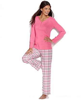 638452a4c71da Charter Club Holiday Lane Flannel Mix it Up Top and Pajama Pants Set (Large
