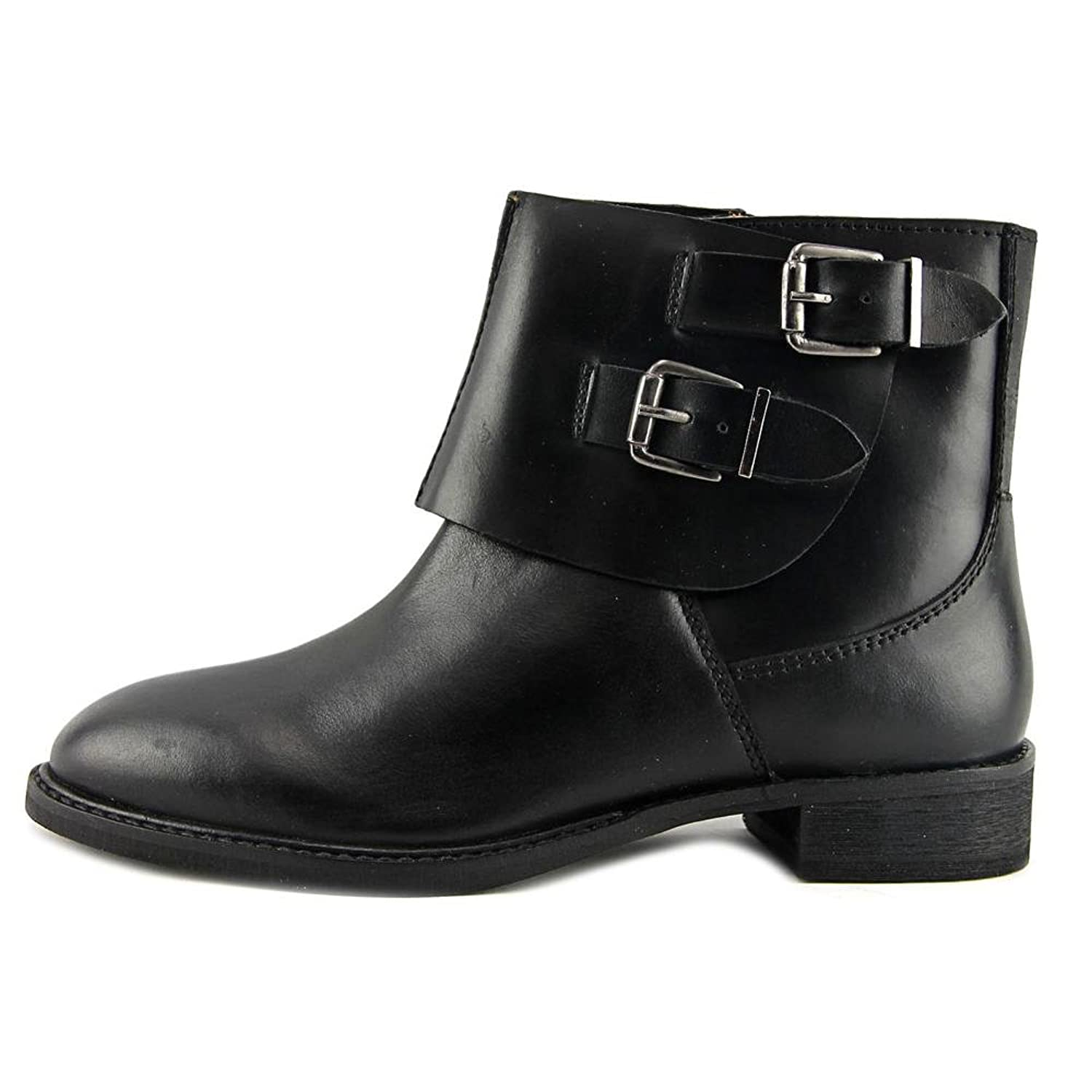 Discount Sale Onfire Leather Buckle Boots Womens Black Online Store