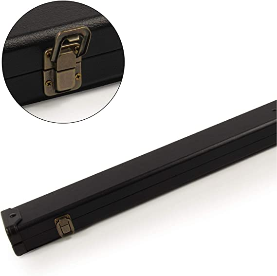 Funky Chalk Plain Black Hard Case Holds 3/4 Jointed 3pc Snooker ...