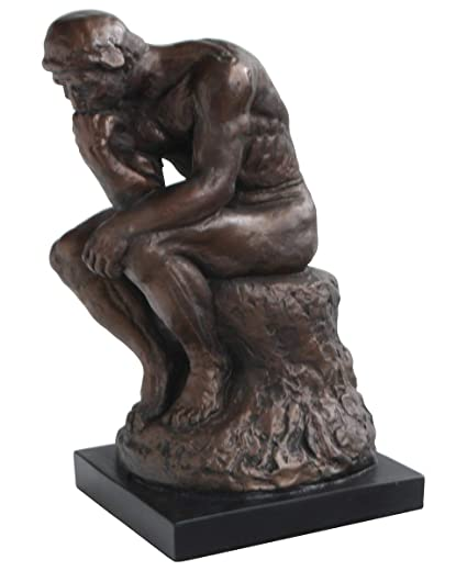 Thinker >> Amazon Com Culture Spot The Thinker By Rodin Statue 11 5 Inches