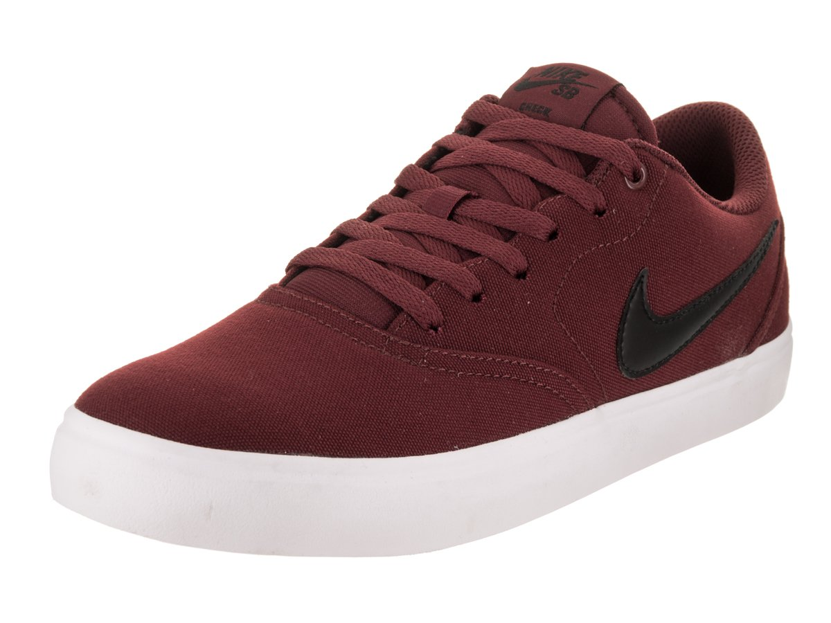 NIKE Men's SB Check Solarsoft Canvas Skateboarding Shoe B01M3YB8GR 7 D(M) US|Dark Team Red/Black White