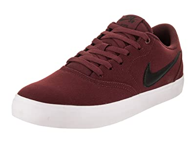 7054c278 Image Unavailable. Image not available for. Color: Nike 843896-611: SB  Check Solarsoft Men's Dark Team Red/Black White Sneaker