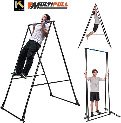 Barra Dominadas KT1.1520 máquina de gimnasio PLEGABLE Máx altura 255cm Portátil barra de ejercicios para aliviar dolor de espalda y ciática, altura ajustable muy ESTABLE barra musculacion: Amazon.es: Deportes y aire libre