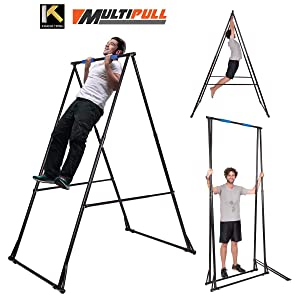 KT Abs Pull up Bar, Mens Pull-up Bar Machine, Adjustable Pullup Stand with Portable Frame, Indoor Pull Ups Machine Equipment, Standing - Gym Training Pullups Workout for Users up to 6.56ft & 485Lbs
