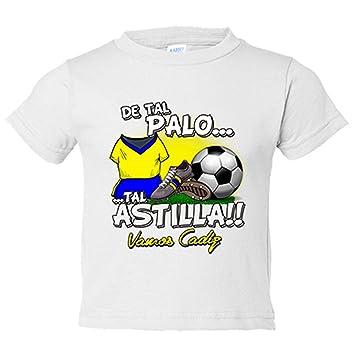 Camiseta niño De tal palo tal astilla Cádiz fútbol - Amarillo, 3-4 años: Amazon.es: Bebé