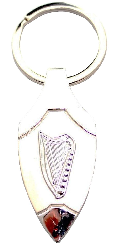 激安直営店 Irish Gold and Silver B00831ULPW Harp Embossed Metal Irish Dagger Shaped Metal Keyring B00831ULPW, ヤヒコムラ:36ed74ab --- yelica.com