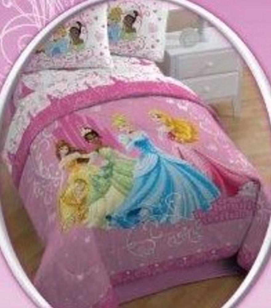 Amazon.com: Disney Princess Quilt Comforter Cinderella Tiana Queen ... : disney princess quilt - Adamdwight.com