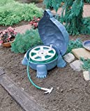 """Darwin"" The Galapagos Turtle Garden Hose Hider With Hose Reel - 100 Foot Hose Capacity - Patina Finish"