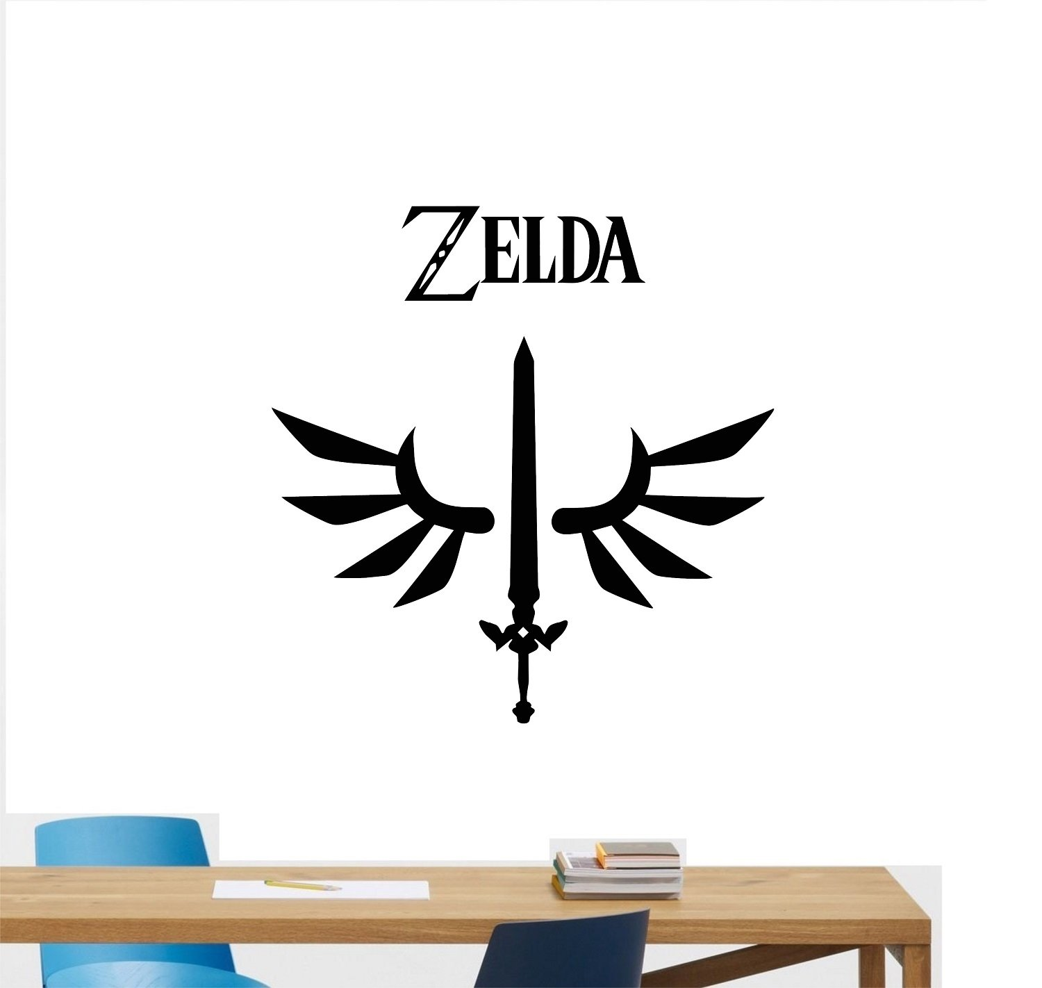 Legend Of Zelda Wall Decal Triforce Symbol Gift Gaming Gamer Movie Video Game Poster Vinyl Sticker Kids Teen Boy Room Nursery Bedroom Wall Art Decor Mural