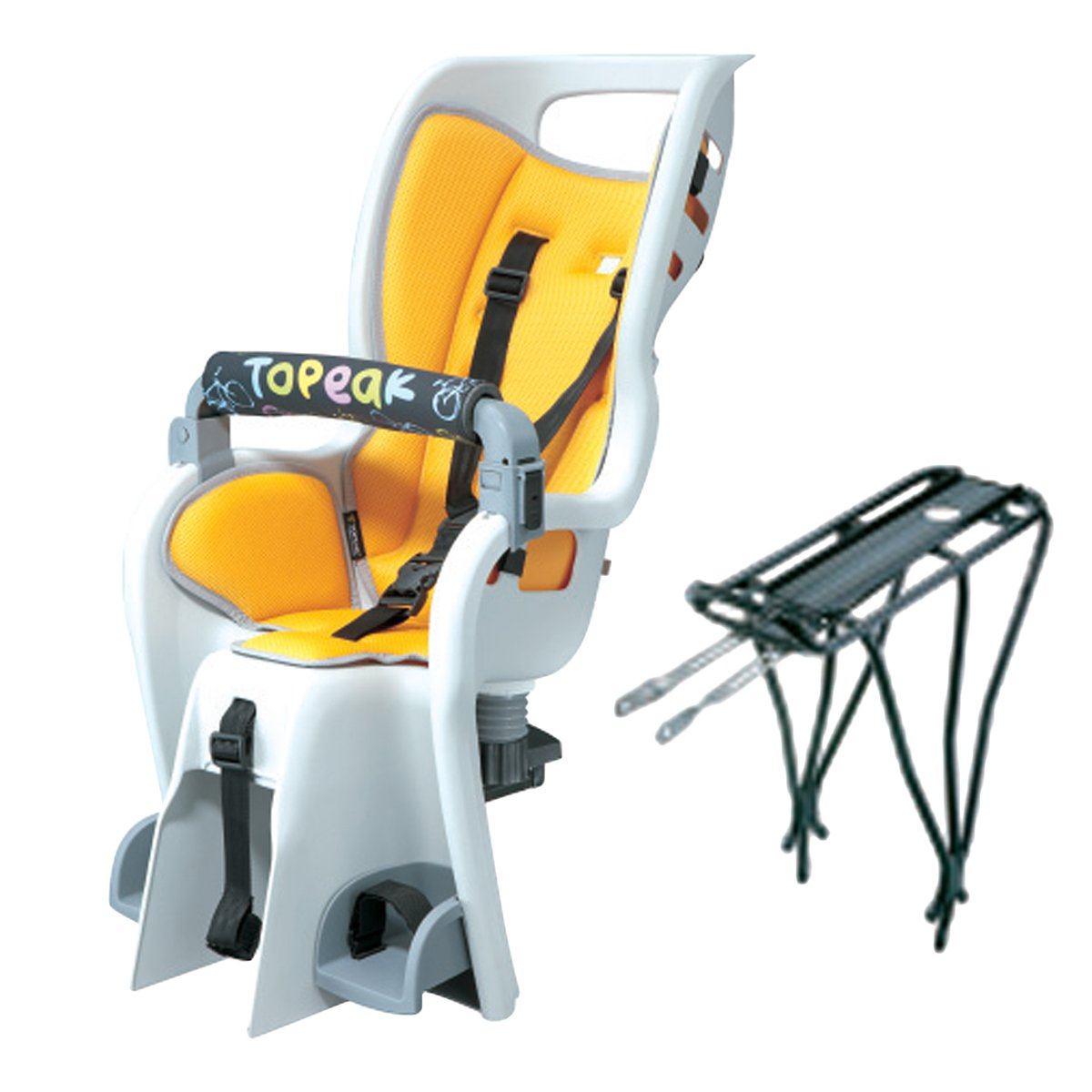 Baby chair on bike - Topeak Baby Seat Ii 26in Non Disc Rack Bicycle Baby Seat