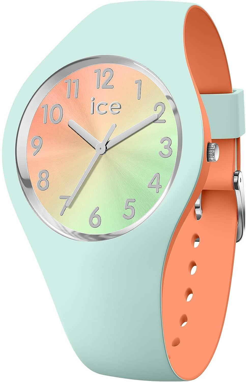Ice-Watch - ICE duo chic Aqua coral - Reloj verde para Mujer con Correa de silicona - 016981 (Small)