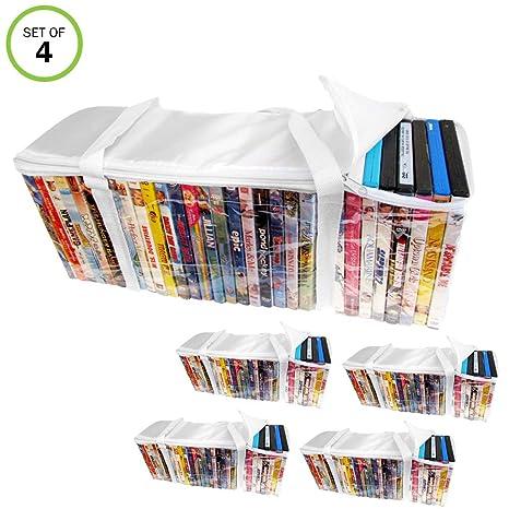 Amazon.com: Evelots DVD-Blu Ray-Video-Storage Bag-Clear ...