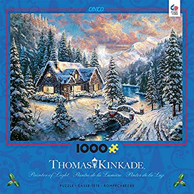 Ceaco Thomas Kinkade High Country Christmas Holiday Puzzle 1000 Piece