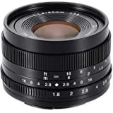 【国内正規品】 七工匠 7Artisans 単焦点レンズ 50mm F1.8 (フジフイルムX, ブラック) 5018XB