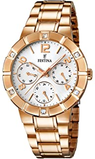 Festina F16709/1 - Womens Watch, Stainless Steel placcato, color: Oro rosa