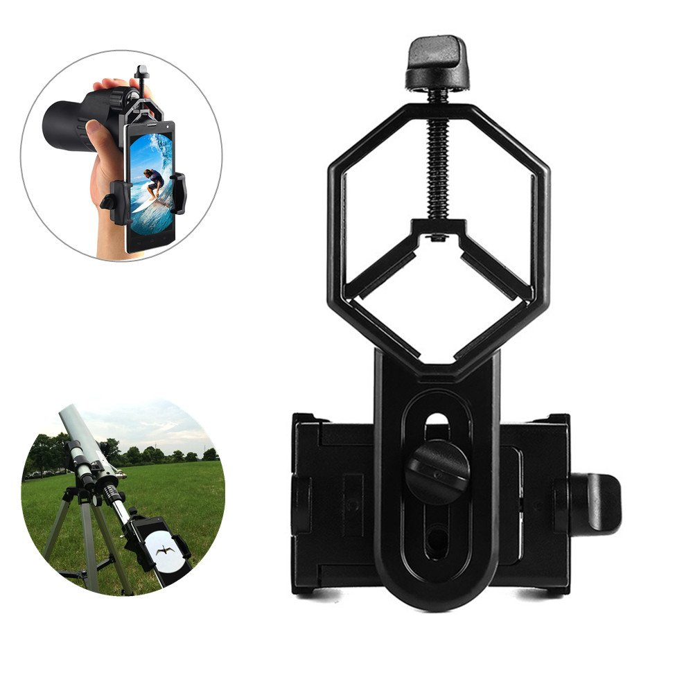 Leagway Cell Phone Adapter Mount - Compatible with Binocular Monocular Spotting Scope Telescope Microscope for iPhone X 8 7 6 Plus Samsung Galaxy Google Moto Etc - Record The Nature of The World