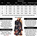 FISOUL Women's Casual Chiffon Long Bell Sleeve Floral Print Fit and Flare Dress