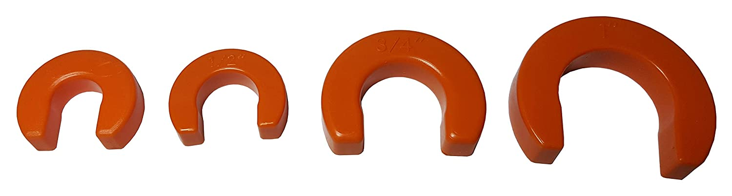 """4 PIECES XFITTING 3/8"""",1/2"""",3/4"""" AND 1"""" (EACH) DISCONNECT CLIP TOOL FOR SHARKBITE, CASH ACME, PUSH FIT"""