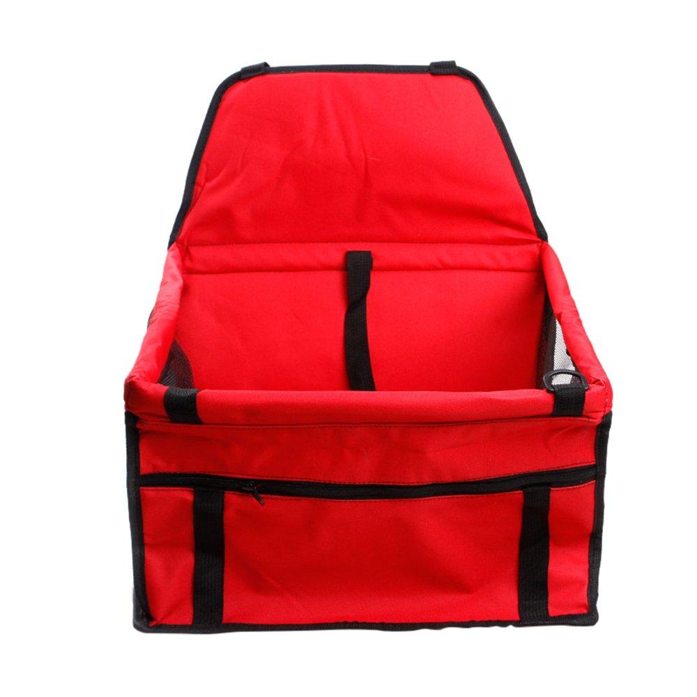 laamei Asiento del Coche de Seguridad para Mascotas Asiento Cubierta Protector Caja de Transporte Viaje Bolsas para Perro Gato(40x30x25cm)
