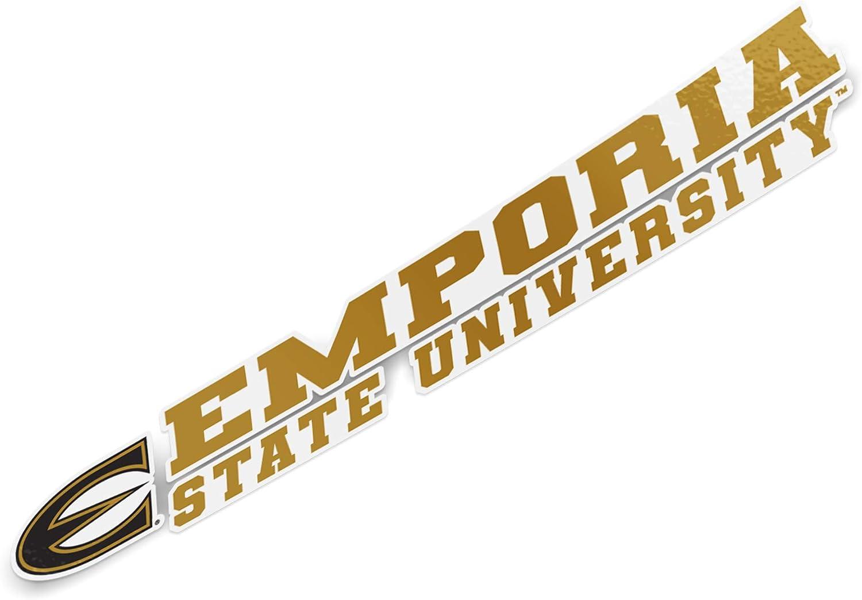 8 Inch Sticker Emporia State University Hornets NCAA Name Logo Vinyl Decal Laptop Water Bottle Car Scrapbook