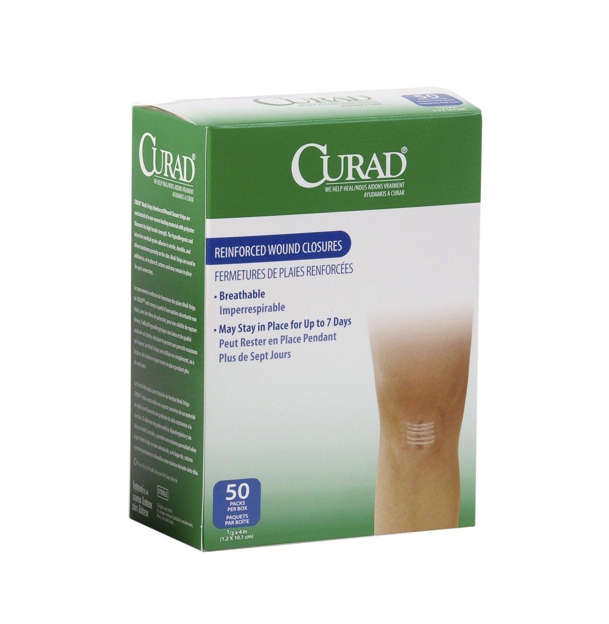 Curad NON250414 Sterile Medi-Strips, 1/4'' x 4'', White (Pack of 2000)