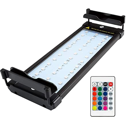 NICREW Luz LED Acuario RGB, Pantalla LED Acuario con Control Remoto, Iluminacion LED para