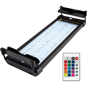NICREW Luz LED Acuario RGB, Pantalla LED Acuario con Control Remoto, Iluminación LED para