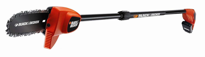 Black and Decker 18V/2,0Ah Li-Ion Battery High Pruning Saw Entaster 20cm Blade length including Gloves and Protection Glasses, GPC1820L20K Black+Decker GPC1820L20K-QW
