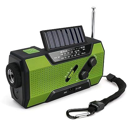 Solar AM//FM Radio Kurbelradio NOAA SOS Wetter Power Bank Taschenlampe 2000mAh