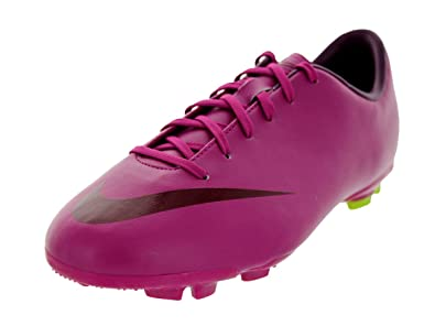 Nike Kids Jr Mercurial Victory III FG Rave Pink Bordeaux Atmc Green Soccer  Cleat d1715113dd3db