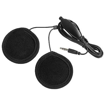 Rupse – Control de volumen 3,5 mm auriculares casco de moto con micrófono integrado