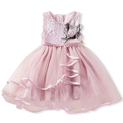 fe3dd54e1 Amazon.com: Baby Girls Baptism Dress Ceremony Party Flower Tutu ...