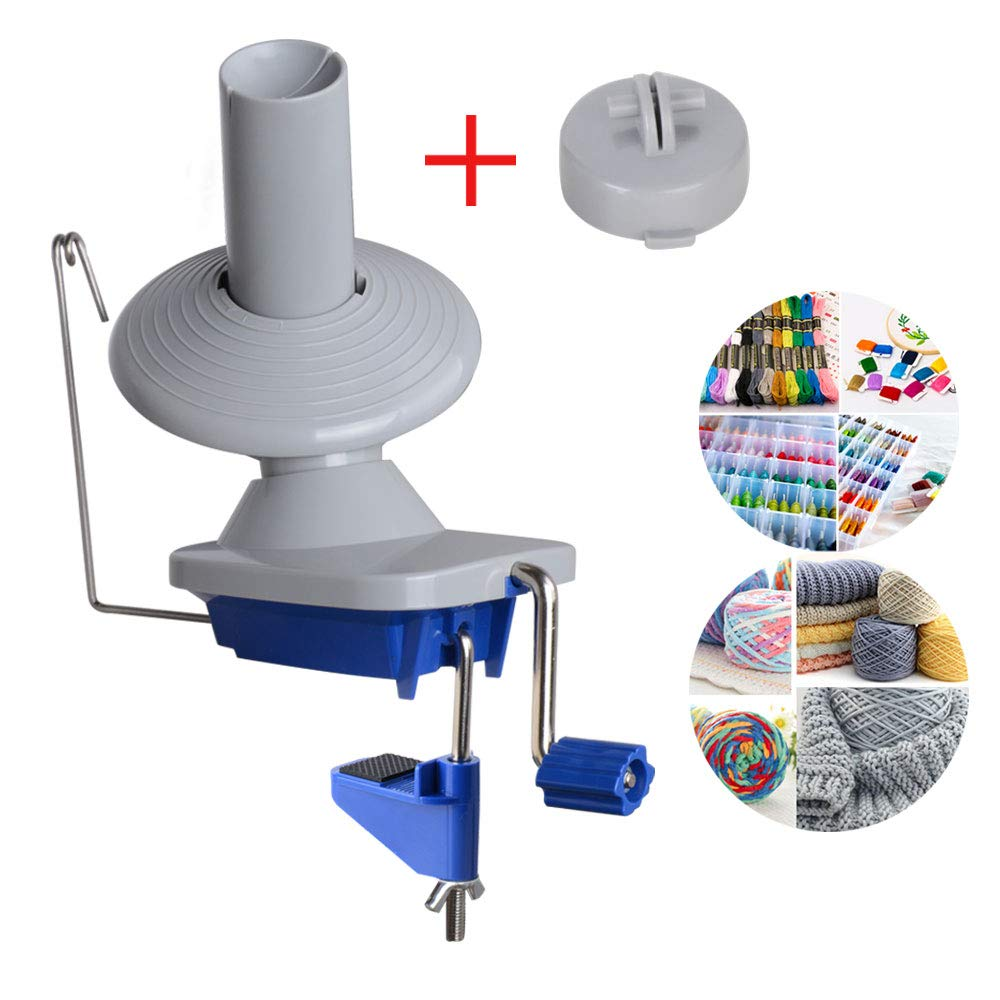 Yarn Ball Winder Swift Yarn Winder Easy to Set Up and Use Metal Handle and Tabletop Clamp with a Non-Slip Rubber Mat by CUTEHILL