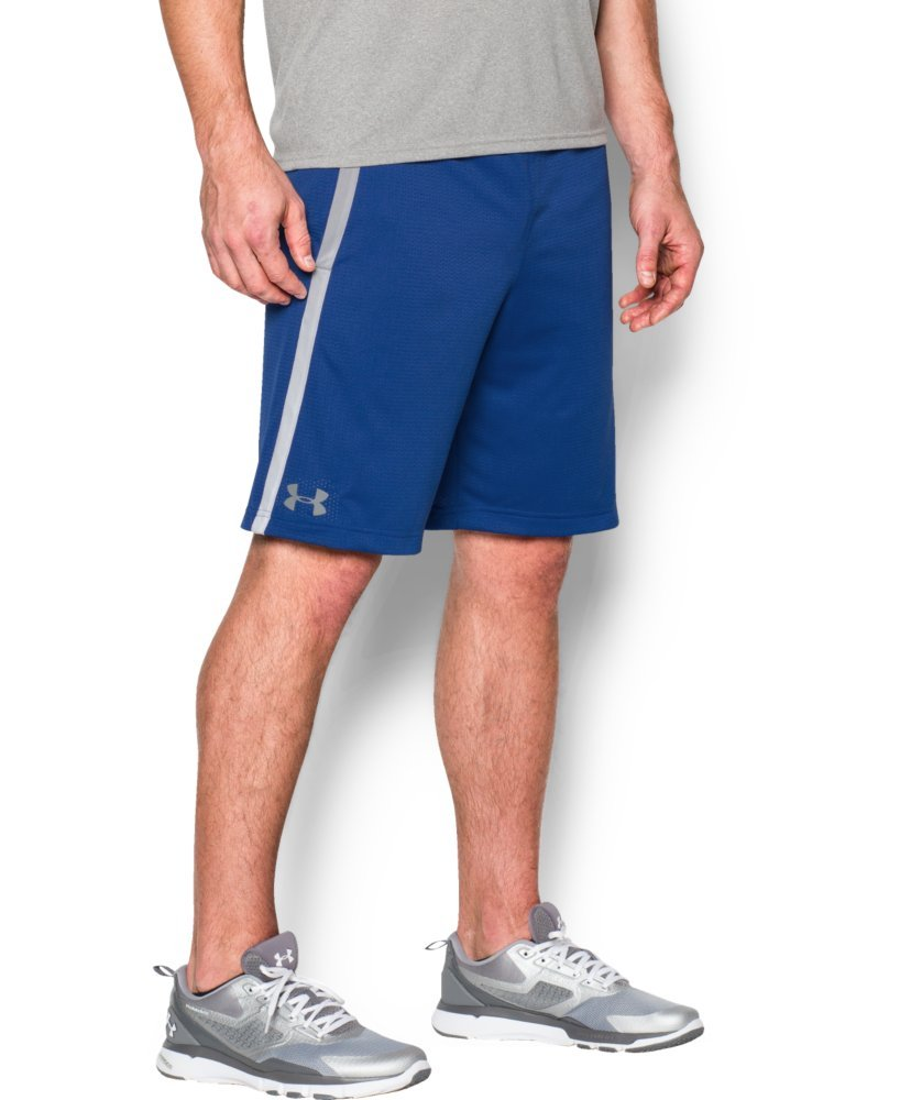 Under Armour Men's Tech Mesh Shorts, Royal (400)/Steel, X-Small