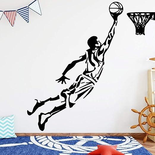 Jugar Baloncesto Pegatinas de Pared Sala de Estar Pegatinas de ...