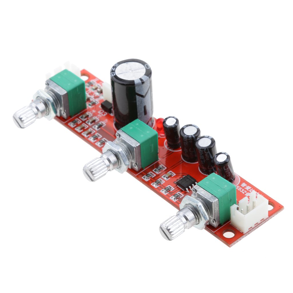 Amazon com: Homyl NE5532 Preamp Preamplifier Tone Board 2 Channels