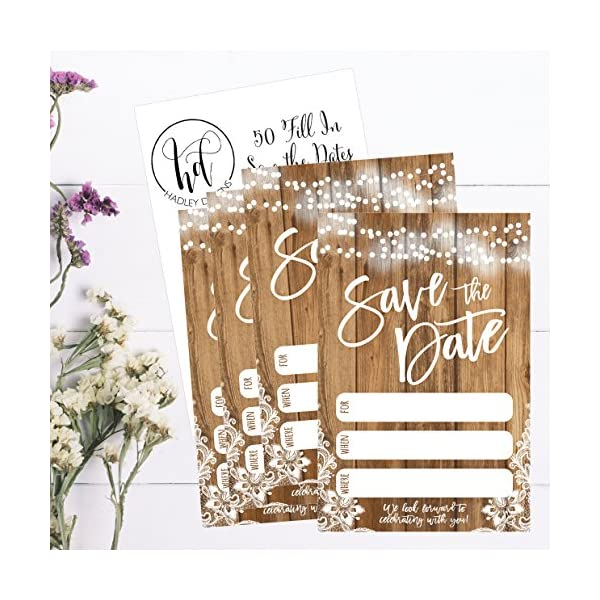 50 rustic save the date cards for wedding engagement anniversary
