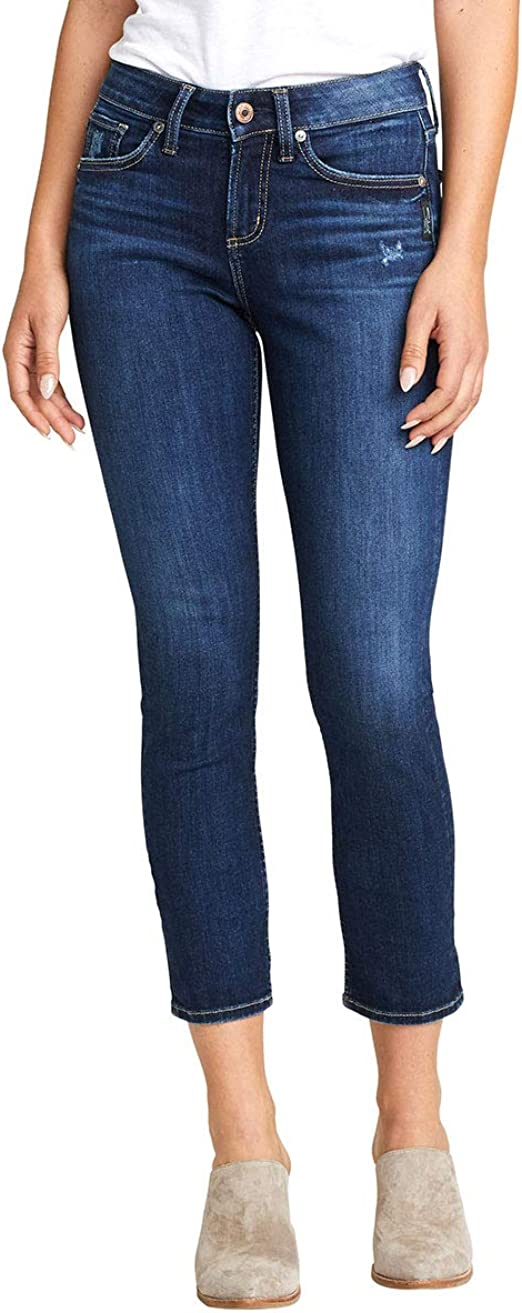 Silver Jeans Co. レディース Avery カービーフィット ハイライズ スリムレッグ ジーンズ