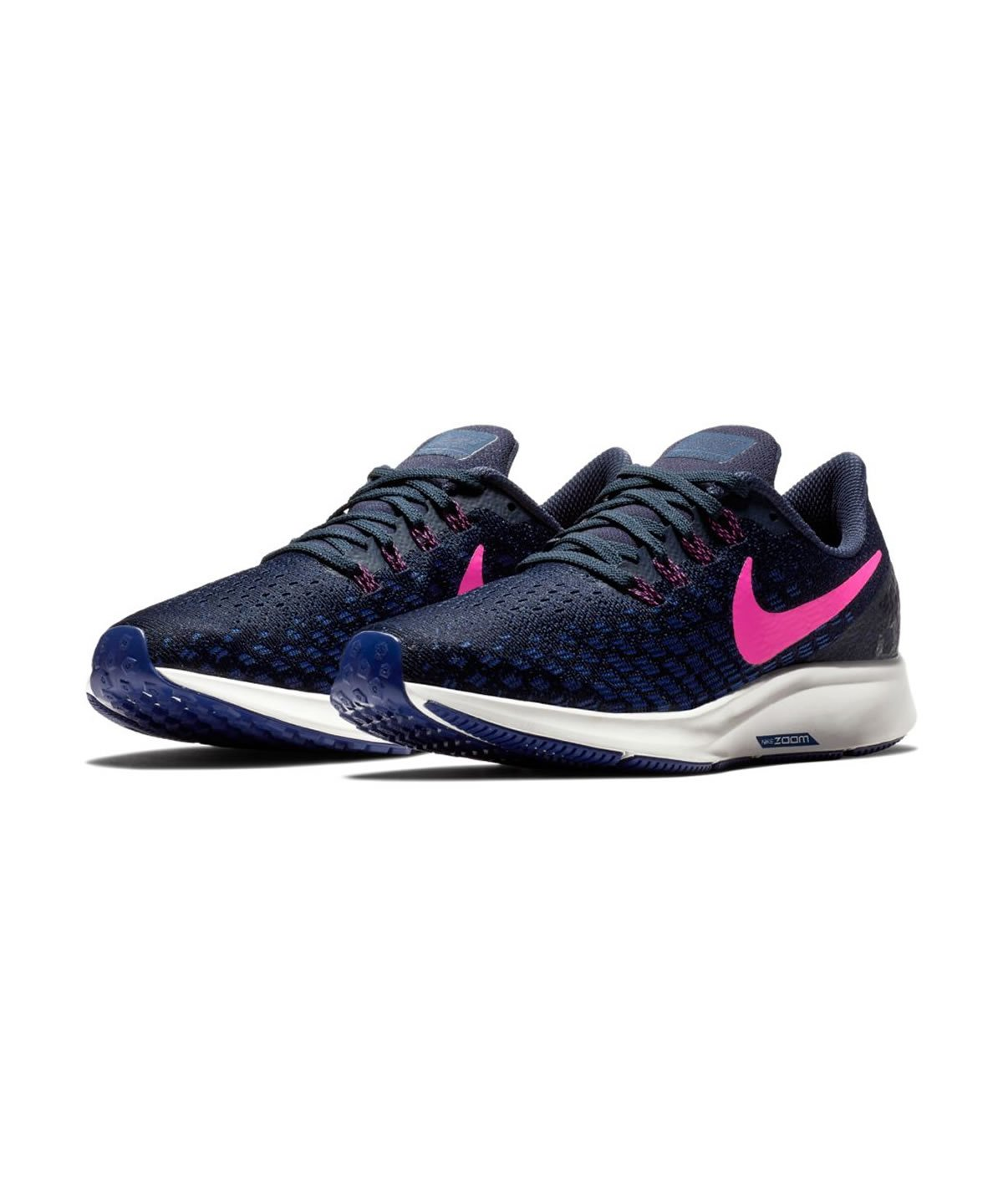 Nike Womens Air Zoom Pegasus 35 Running Shoes B078JD36K4 5.5 B(M) US|Obsidian/Pink Blast/Deep Royal Blue