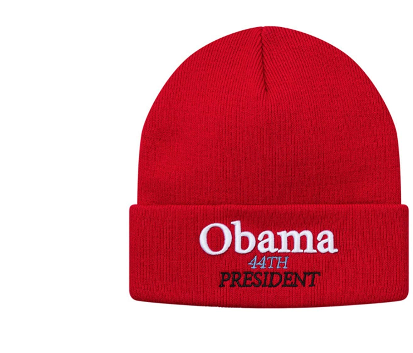 ff82c6a192 Amazon.com  SupremeNewYork Supreme Obama Beanie Red 100% Authentic Real  Designer Sold Out Rare-  Clothing